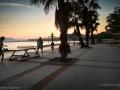 Malaga - seafront at dusk
