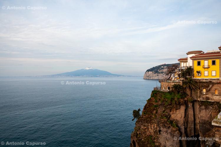 Sea view with Vesuvio - Sorrento - Italy, February 2010