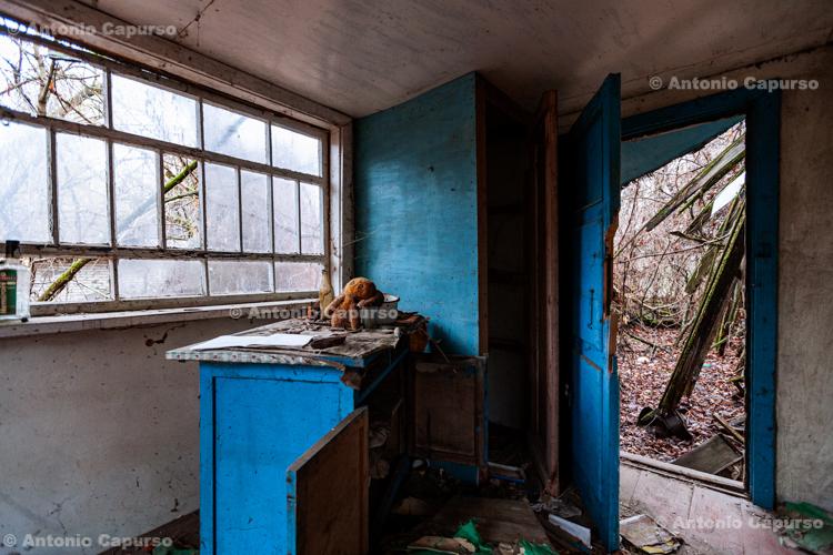 Inside an abandoned building in Zalissya, Chernobyl area - Ukraine, 2019