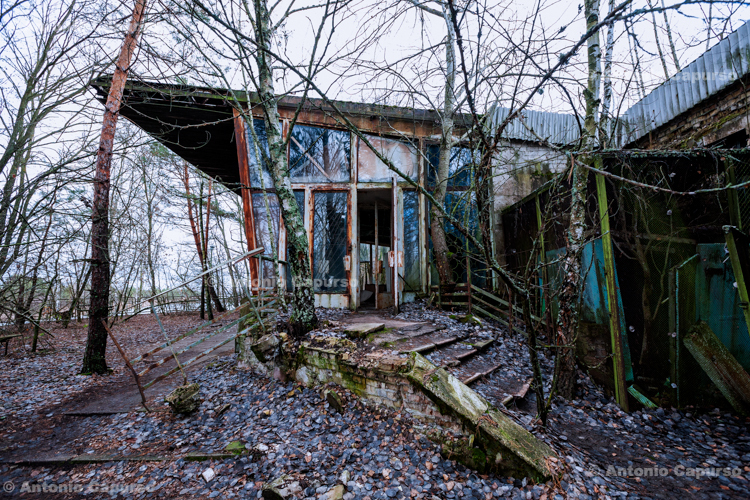 An abandoned bulding near Prypiat, Chernobyl area - Ukraine, 2019
