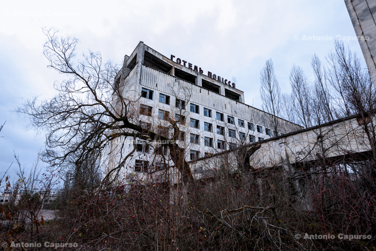 Abandoned ghost town of Prypiat, Chernobyl area - Ukraine, 2019