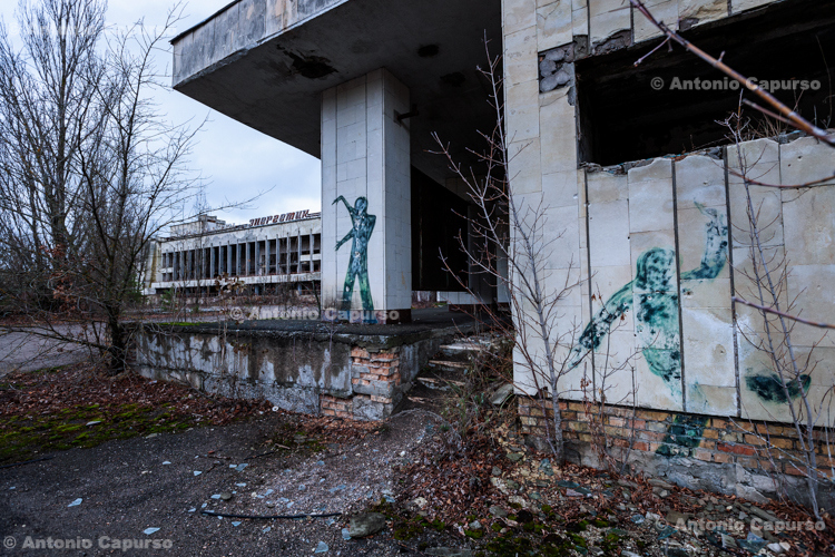 Abandoned ghost town of Prypiat (2), Chernobyl area - Ukraine, 2019