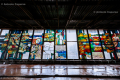Stained glass in an abandoned bulding near Prypiat, Chernobyl area - Ukraine, 2019