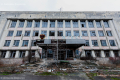 Abandoned government building in Prypiat, Chernobyl area - Ukraine, 2019