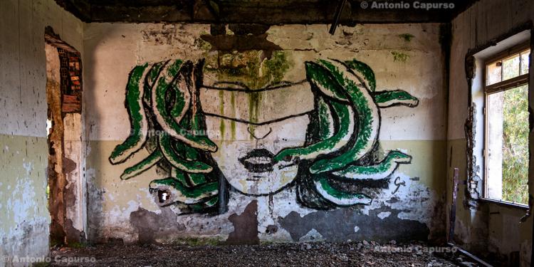Graffiti at former Marcigliana Psychiatric Hospital, now abandoned - Bufalotta, Roma - Italy, March 2010