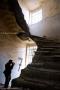 Borken staircase at former Marcigliana Psychiatric Hospital - Bufalotta, Roma - Italy, March 2010