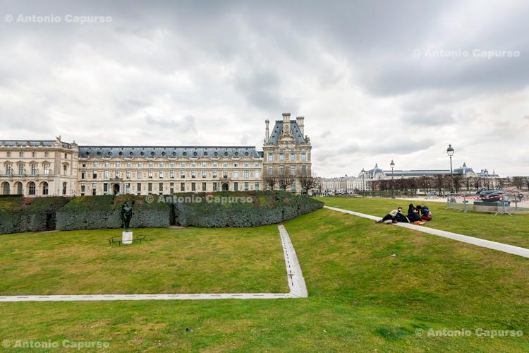 Gardens outside the Louvre - Paris, France (2016)