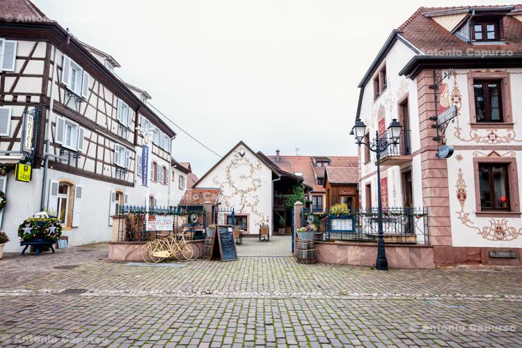 Eguisheim (in Alsace), city centre - Eguisheim, France (2016)
