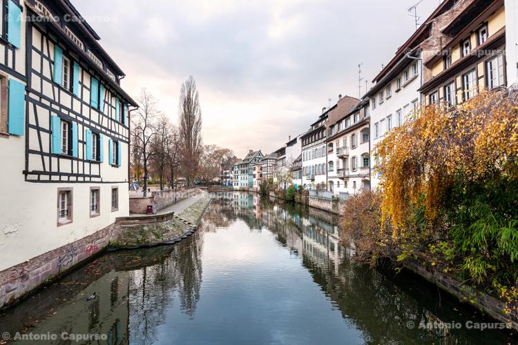Canal view in Strasbourg - Strasbourg, France (2016)