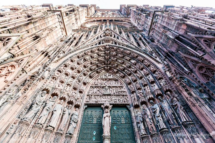 Cathedral of Our Lady of Strasbourg, facade - Strasbourg, France (2016)