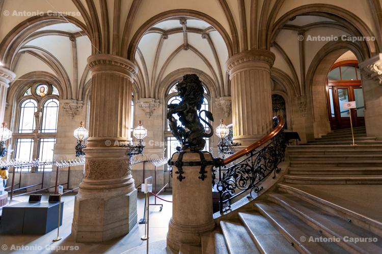Inside Hamburg City Hall (Hamburger Rathaus), Hamburg - Germany, 2019