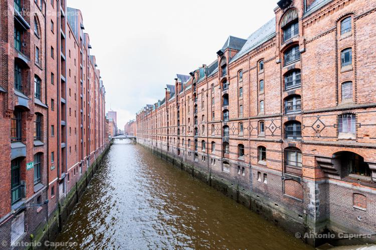 Speicherstadt district in Hamburg - Germany, 2019