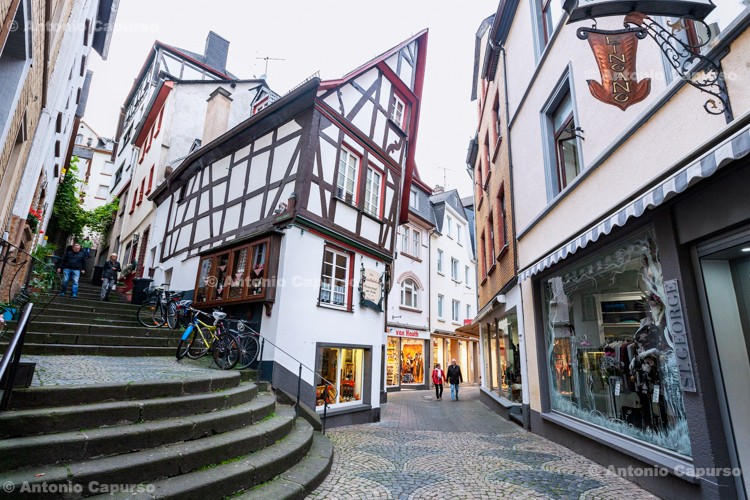 Cochem town centre in the Mosel Valley - Germany, 2017