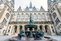 Hamburg City Hall, courtyard fountain, Hamburg - Germany, 2019