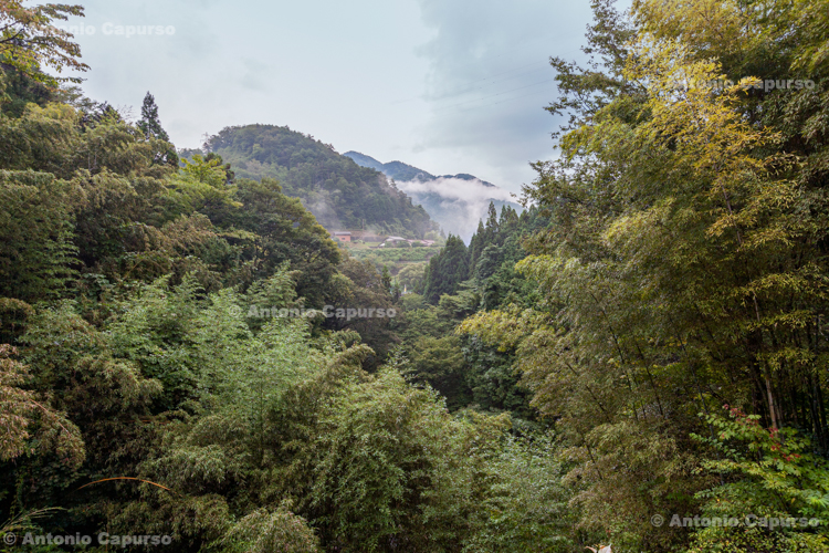 Magome in the evening fog, Kiso Valley (Nakasendo Trail) - Japan (2018)