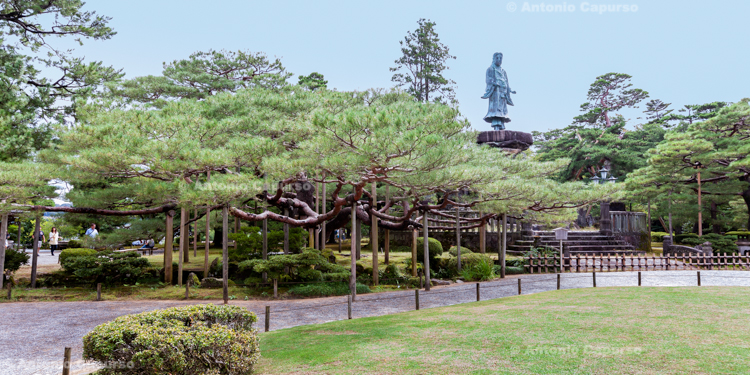 Statue of Yamato Takeru at Kenrokuen Garden - Kanazawa, Japan (2018)