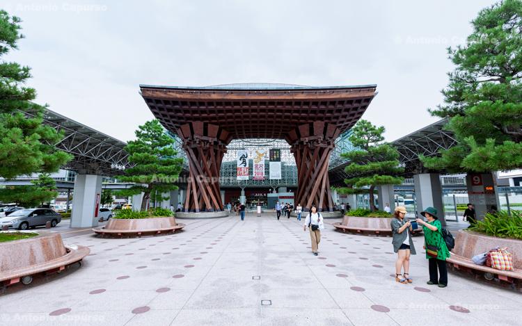 """The Tsuzumi (""""drum"""") Gate at JR Kanazawa Station - Kanazawa, Japan (2018)"""