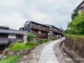 The old Nakasendo Trail at Magome, Kiso Valley - Japan (2018)