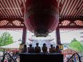 People in prayer at the main altar of the Sensō-ji Temple in Asakusa - Tokyo, Japan (2018)