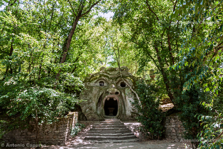 Orcus mouth, Sacred Grove of Bomarzo, Lazio - Italy, 2013