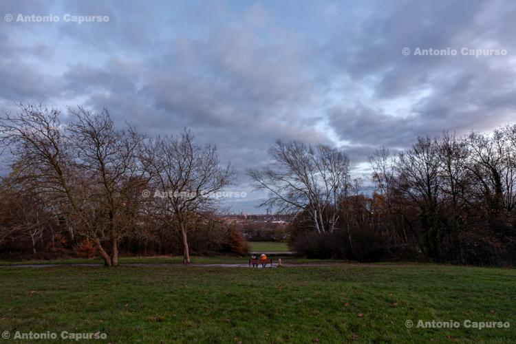 Alexandra Park (North London) at dusk - December 2020