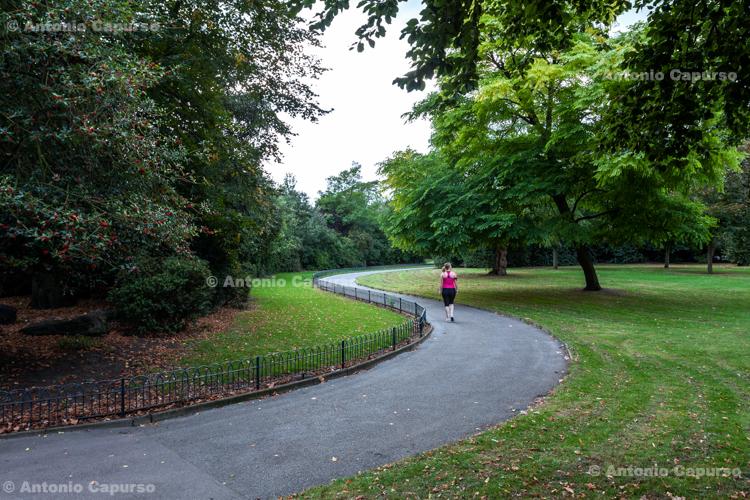 Path in Victoria Park - Hackney, London - September 2014