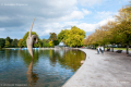 Sculpture in the lake of Victoria Park - Hackney, London - September 2014