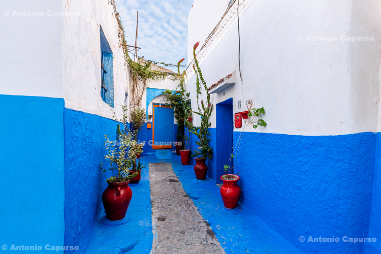 Town streets in the Kasbah of the Udayas, Rabat - Morocco, 2015