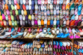 Shoe and babouche shop in Marrakech - Morocco - 2015