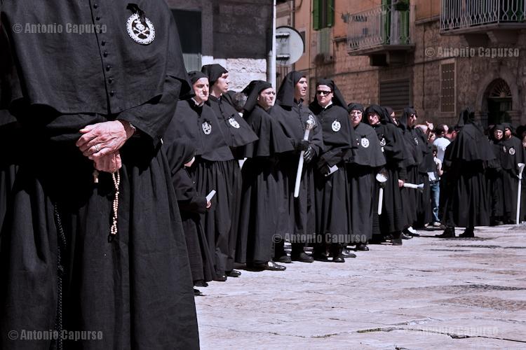 Confraternita della Morte during the morning procession