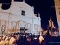 "Holy Saturday: at the end of the procession the ""Pietà"" statue comes back to the ""Chiesa del Purgatorio"""