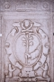 Il Giglio: simbolo della Confraternita di Sant'Antonio di Padova. Le confraternite spesso si sono dotate di simboli e motti che facevano scolpire su pietre