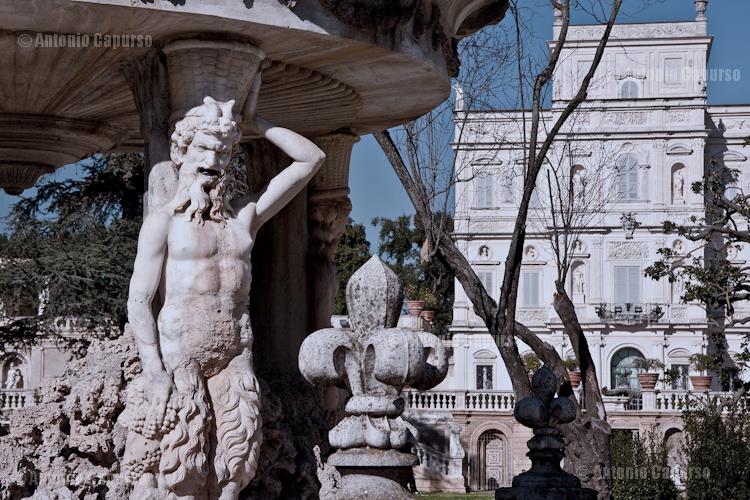 Villa Pamphii - Fontana di Cupido e Casino del Bel Respiro