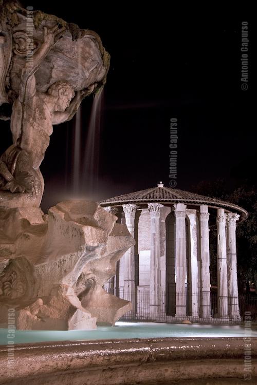 Piazza della Bocca della Verità (Mouth of Truth Square): Vesta's Temple and Fontana del Tritone