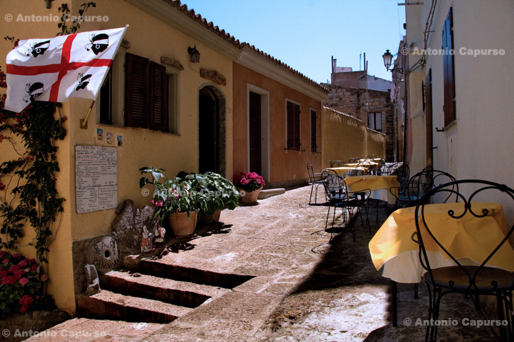 Street of Castelsardo - Sardinia, Italy - June 2010