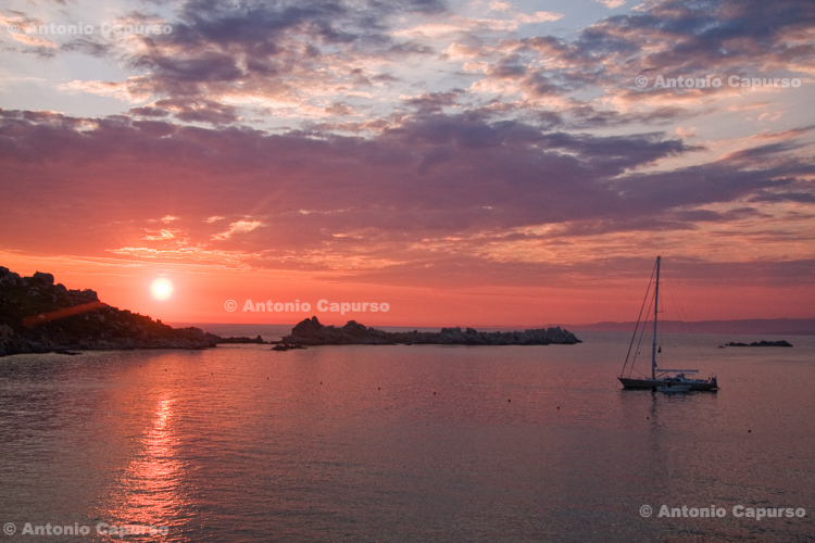Sunset in Gallura - Sardinia, Italy - June 2010