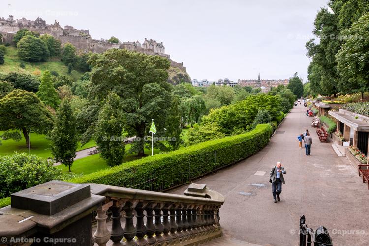 Park near Edinburgh Castle - Edinburgh - Scotland, UK - 2012