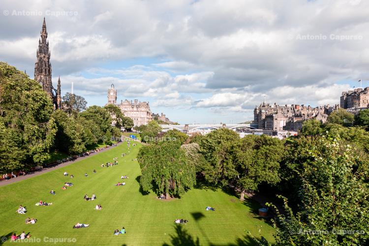 Princes Street Gardens - Edinburgh Scotland, UK - 2012