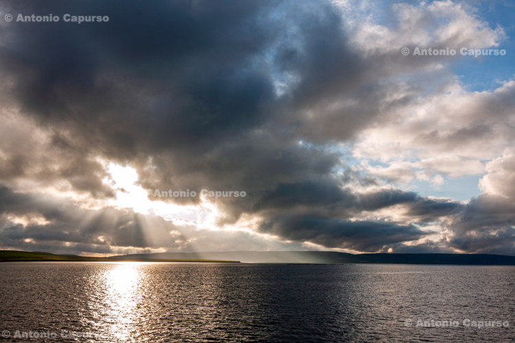Sea view near Kirkwall - Orkney Islands, mainland - Scotland - UK, 2012