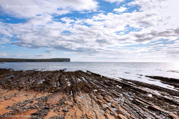 Sandstone beach near Brough of Birsay, Orkney Islands - Scotland - UK, 2012
