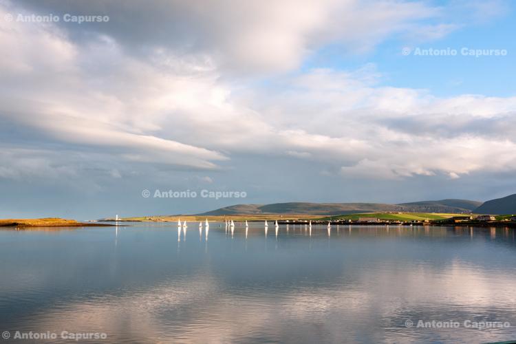 Sailing boats off Kirkwall - Orkney Islands - Scotland - UK, 2012