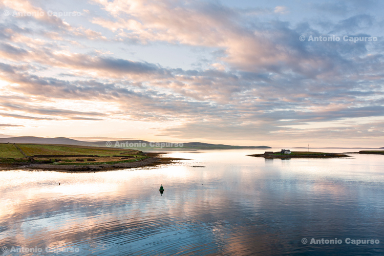 View next to Stromness harbous at dawn - Orkney Islands - Scotland - UK, 2012