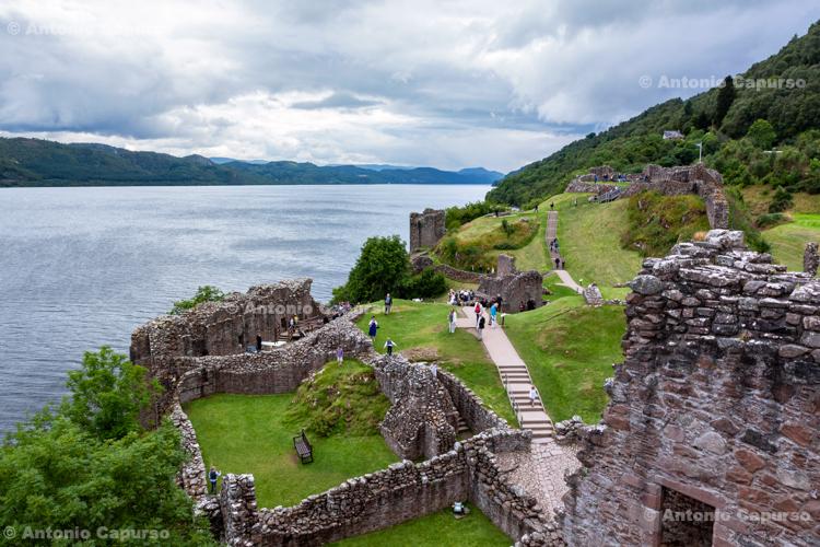 Ruins of Urquhart Castle over Loch Ness - Scotland, UK - 2012