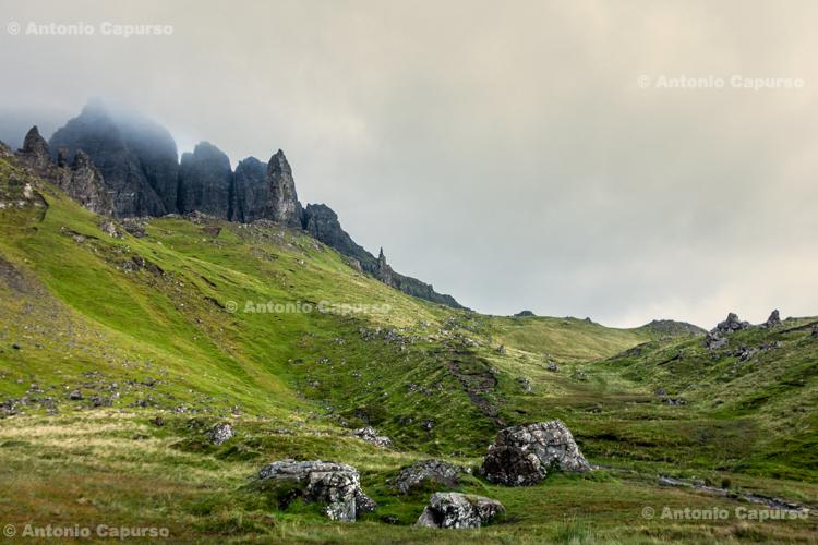 The rock pinnacles Old Man of Storr - Isle of Skye - Scotland, UK - 2012