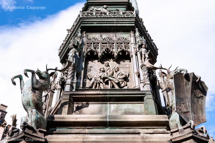 Particular of the statue of Walter Francis Montagu Douglas Scott - Edinburgh - Scotland, UK - 2012