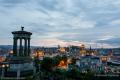 View from Calton Hill at dusk - Edinburgh - Scotland, UK - 2012