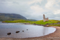 Ruins of Ardvreck Castle on Loch Assynt - Scotland, UK - 2012