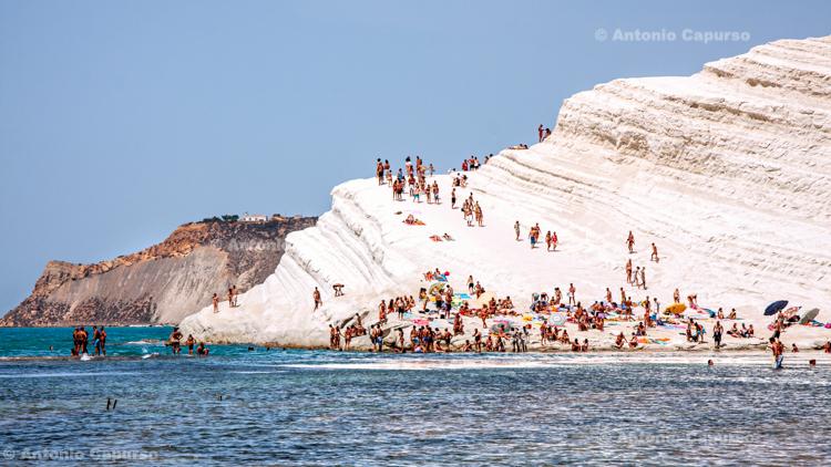 Stair of the Turks (Scala dei Turchi), beach - Sicily, Italy - August 2010