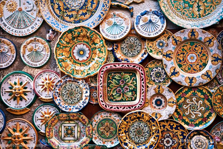 Traditional Sicilian ceramic - Sicily, Italy - August 2010