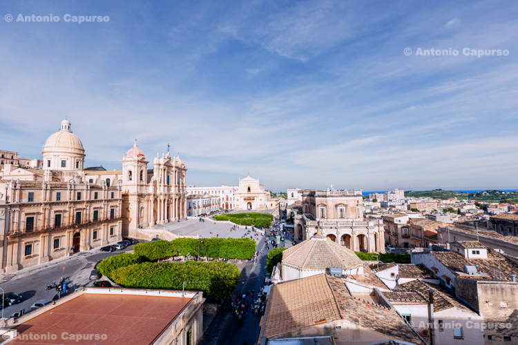 Noto Cathedral and city view - Noto, Sicily - Italy, 2017